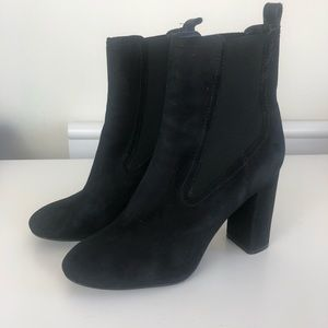 Theory Theyskens black suede boots size 8